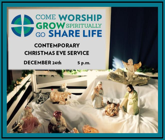 Christmas Eve Contemporary Worship 5 p.m.