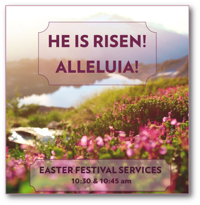 Easter Service Schedule